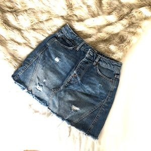 Free People Jean skirt
